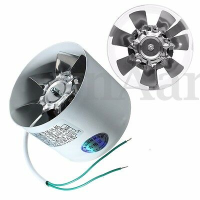 Metal 4'' Inline Ducting Fan Booster Exhaust Blower Air Cooling Filter Vent Fans