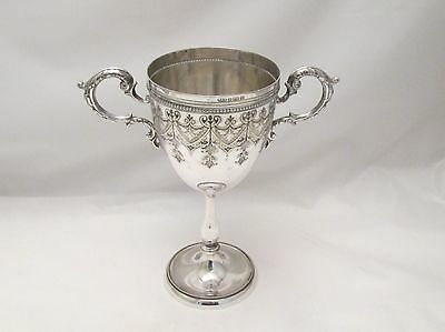 A Good Silver Plated Communion Cup / Trophy by Roberts & Belk - 19th Century