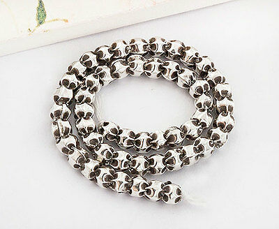 Karen Hill Tribe Silver 50 Small Pleat Beads 3x3.5 mm. 6 inches