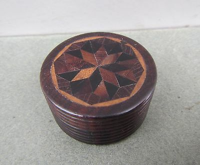 Old Tunbridge Ware Wooden Rosewood Pill or Trinket Box