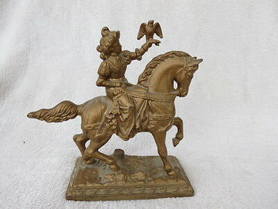 Vintage Cast Spelter Figural Clock Mount (Lot A)
