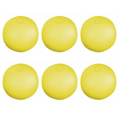 """6 x Translucent Yellow Inflatable Blowup Beach Ball's 9"""""""