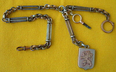 ANCIENNE CHAINE pour MONTRE GOUSSET EN METAL OLD METAL POCKET WATCH CHAIN