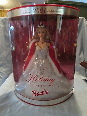Barbie Special 2001 Edition Holiday Celebration Barbie Doll New In Box