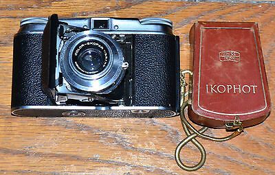 Vintage Voigtlander Vito II 35mm Folding Camera & Zeiss Ikophot Light Meter
