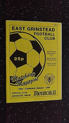 East Grinstead V Ifield 1989-90