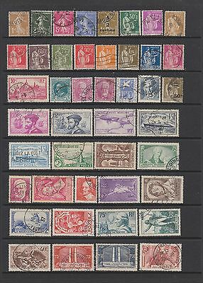 France 1932 - 1937 fine used collection, 77 stamps