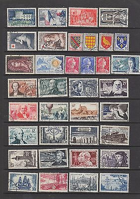 France 1954 - 1957 fine used collection, 133 stamps