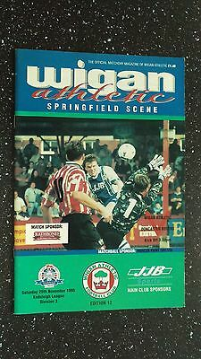 Wigan Athletic V Doncaster Rovers 1995-96