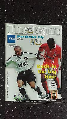 Derby County V Manchester City 1998-99.