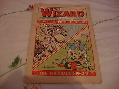 COMIC - The WIZARD from 19 December 1970 with 6d price tag