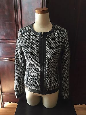 Women's Black White Career Blazer Jacket Size Small YOKI New York
