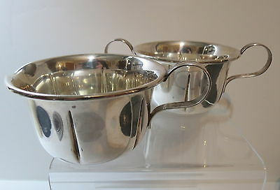 Solid STERLING SILVER Cream and Sugar Set by Lenox Inc. Modernist Heavy Weight