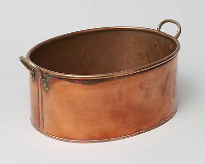 Vintage British Copper Fish Kettle/Cooking Pot or Planter with Brass Handles