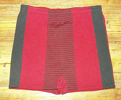 Vtg Mens RED AND BLUE Swim Trunks Shorts  Swimsuit Union Made~OS 28-38