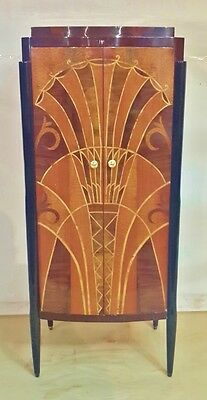 GRANDIOSE INLAYING Art Deco style  cabinet bar bookcase