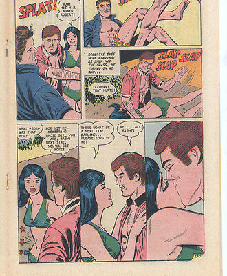 FOR LOVERS ONLY 70 (1973 Charlton) Scarce SPANKING Panel! VF+ 8.5
