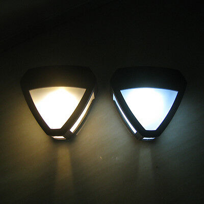 HOT Solar Powered Wall Mount LED Light Outdoor Garden Path Landscape Fence Lamp