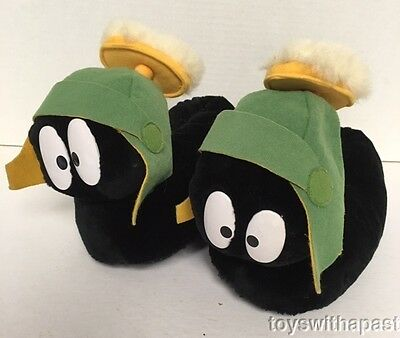 1998 WB Store MARVIN the Martian ADULT SLIPPERS Plush Medium 7/8 Shoes