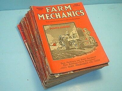 (16) 1920-1923 Issues Farm Mechanics Magazine Lots Of Ads And Articles~Free Ship