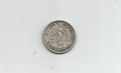 NCOFFIN US TERRITORY 1903 (p) PHILIPPINES 20 CENTAVOS .900 FINE SILVER COIN