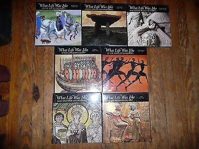Lot of 7 WHAT LIFE WAS LIKE History ANCIENT EGYPT Rome VIKINGS Celtic +Reference