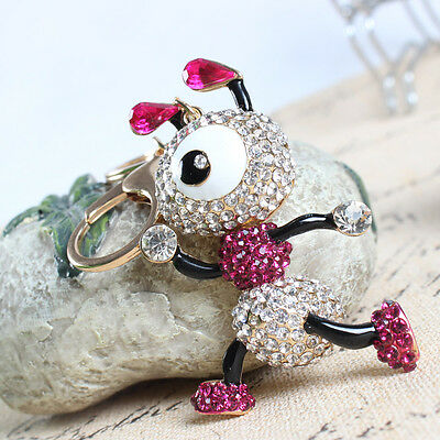 Ants Insect Lovely Crystal Rhinestone Charm Pendant Purse Bag Keyring Chain Gift