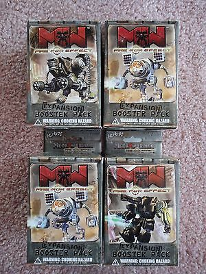 Fire For Effect Booster Packs sealed group of 4 MechWarrior by WizKids 2003
