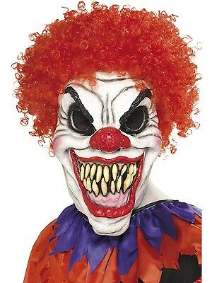 Circus Scary Clown Mask Foam Rubber Halloween Scary Fancy Dress Accessory