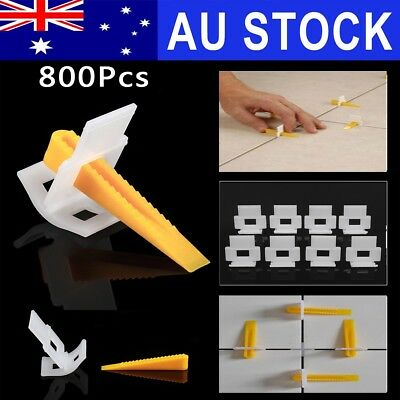 AU 800 Tile Leveling System = 500 Clips + 300 Yellow Wedges Tile Leveler Spacer