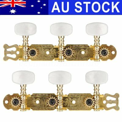 2x Gold Tuning Pegs Machine Heads Tuners Keys Classical Acoustic Guitar String