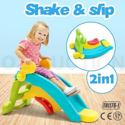 2in1 Baby Shake and Slide Toddler Step Up Rocking Toy Indoor & Outdoor Play Set