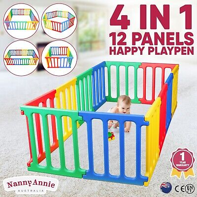 Kids Playpen Rectangle 1.65m Plastic Childrens Play Room