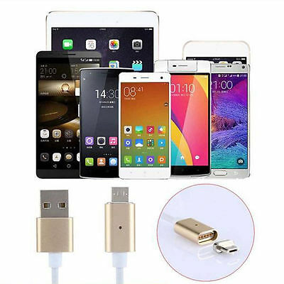 2.4A Micro USB Charging Cable Magnetic Adapter Charger For Samsung / LG/Android