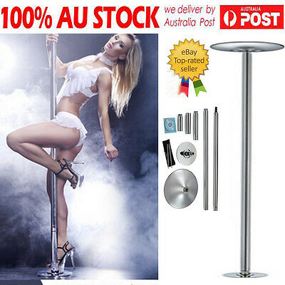 DANCE POLE PORTABLE EXERCISE SPINNING HOME GYM DANCING FITNESS w/ 2x EXTENSION P