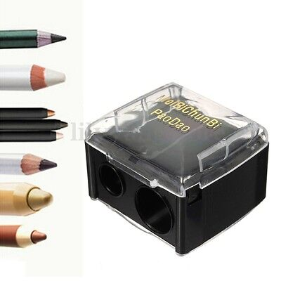 Dual 2 Size Make Up Pencil Sharpener Cosmetic Eyebrow Pencil Eyeliner Lip Liner