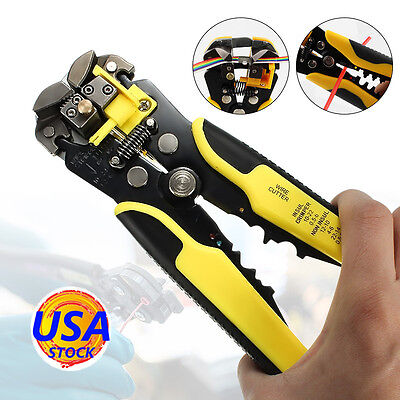 Drillpro Wire Cable Stripper Crimper Cutter Automatic Multifunctional Plier Tool