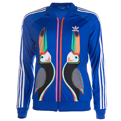 Womens adidas Originals Womens FARM Tukana Supergirl Track Top in Blue - 10