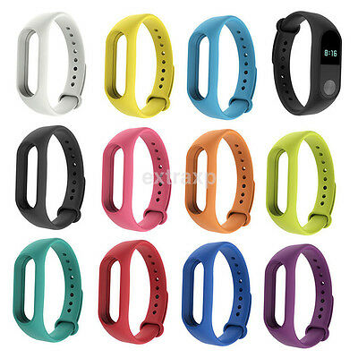 Colorful Silicone Wrist Strap Bracelet Replacement watchband for Xiaomi Miband 2