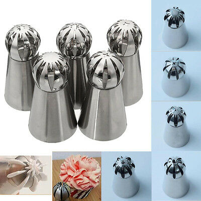 New 5 pcs Russian  Ball Cake Decorating Icing Piping Nozzles  Tips Baking Tool