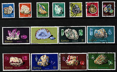 KENYA 1977 The Complete Minerals Set SG 107 to SG 121 VFU