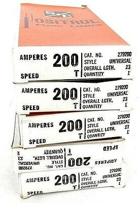 Lot Of 5 New S&c 279200 Positrol Fuse Links 200 Amp, Universal. 23 Lgth, T Speed
