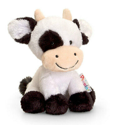 "Pippins soft toy DAISY the COW stuffed animal 6""/15cm KEEL / KORIMCO TOYS - NEW"