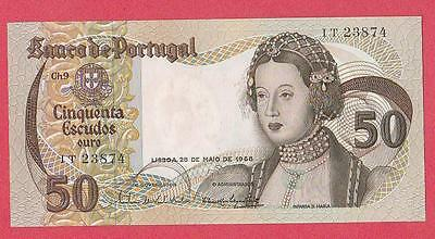 1968 Portugal 50 Escudo Note Unc