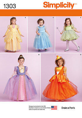 Simplicity SEWING PATTERN 1303 Toddlers/Childs Fairy,Princess,Witch Costumes
