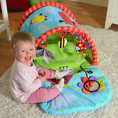 New Red Kite Tunnel Activity Play Gym Baby Musical Padded Play Mat Garden Gang