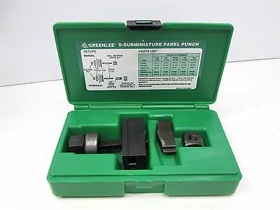 Greenlee 34420 Panel Punch RS232 25-Pin D Subminiature, Manual Knock-Out Kit Set