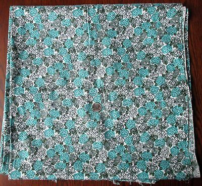 "Vintage 1950's  36"" Wide Floral Print Cotton Fabric - 3 yds + 30 inches."