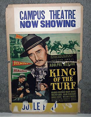 KING OF THE TURF original 1939 HORSE RACING movie poster ADOLPHE MENJOU
