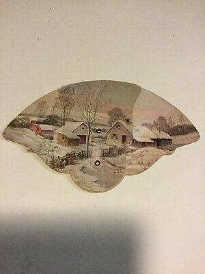 Fold Out Hand Fan~Winter~Hadland Art~Aalco Moving & Storage~St Louis MO~Colson